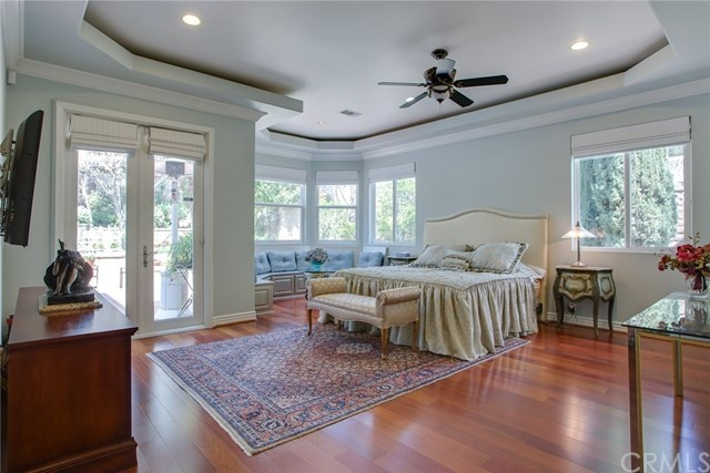 luxurious and spacious master suite with private entry