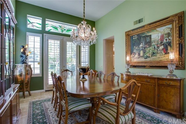 luxurious formal dining room