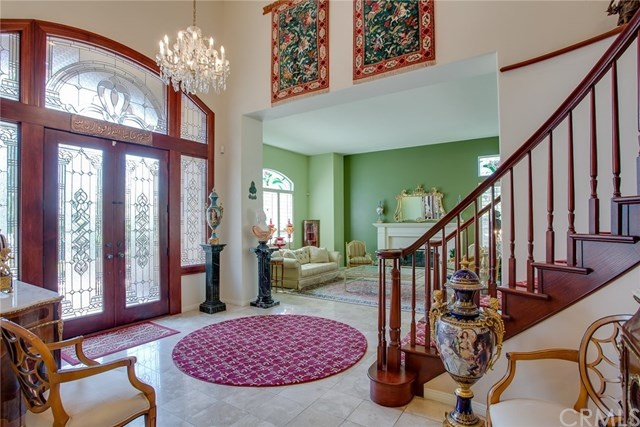 stunning two story front entryway