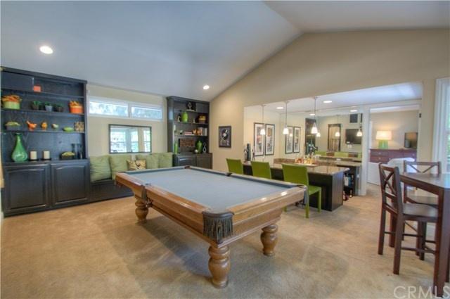 bar and pool table room