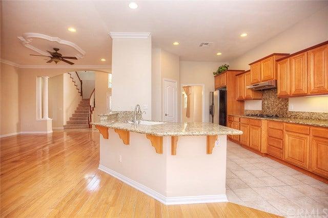 beautiful gourmet kitchen