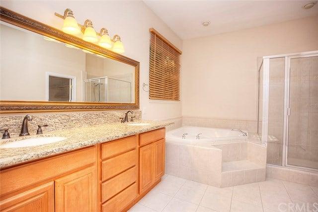 luxurious master suite bathroom