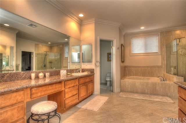 spalike bathroom in master suite