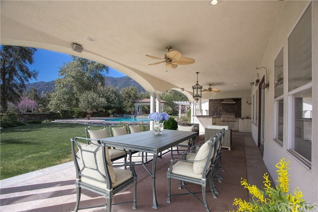 backyard porch with mountain views
